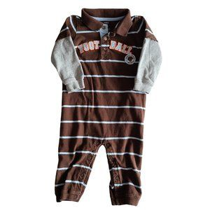 ☘️3/$30☘️ CARTER'S Brown & Gray Striped One Piece